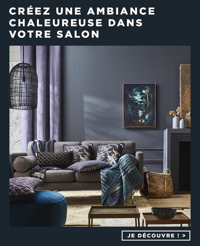 Créez une ambiance chaleureuse dans votre salon.