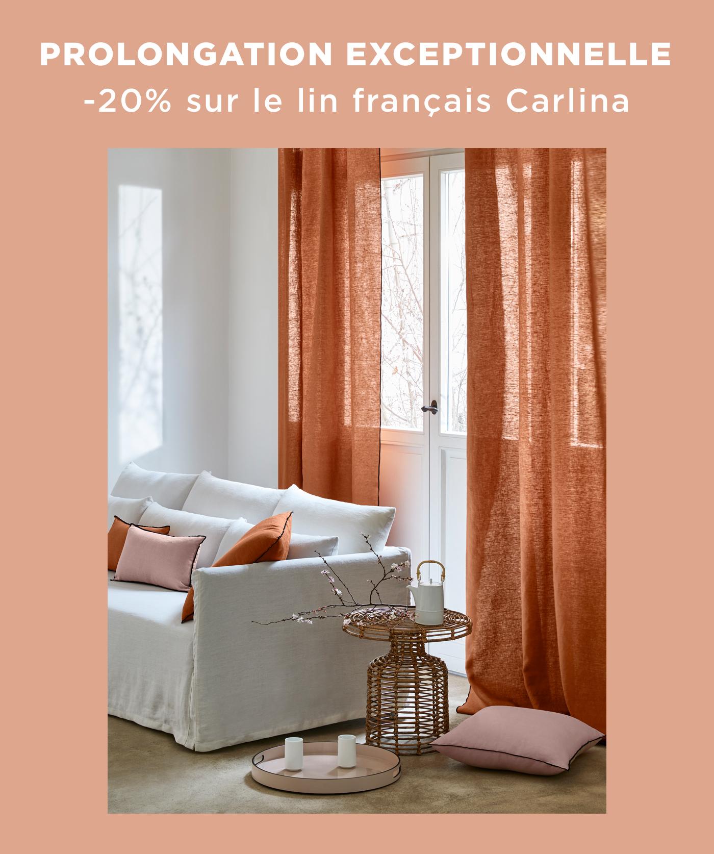 PROLONGATION EXCEPTIONNELLE | -20% sur le lin français Carlina