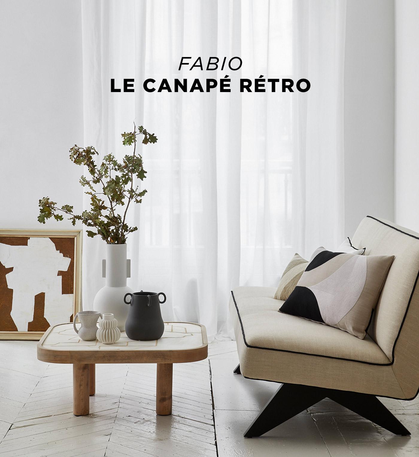 Fabio, le canapé rétro