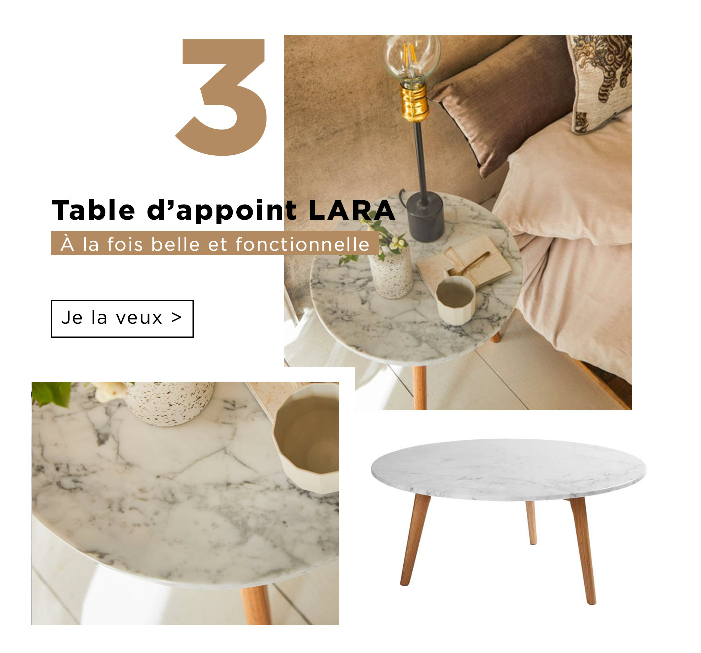 Table d'appoint Lara